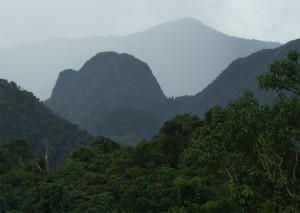 Gunung Mulu across the Souther Hills