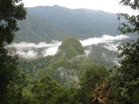 Batu Nigal and Tiger Cave from Red Leaf Monkey camp